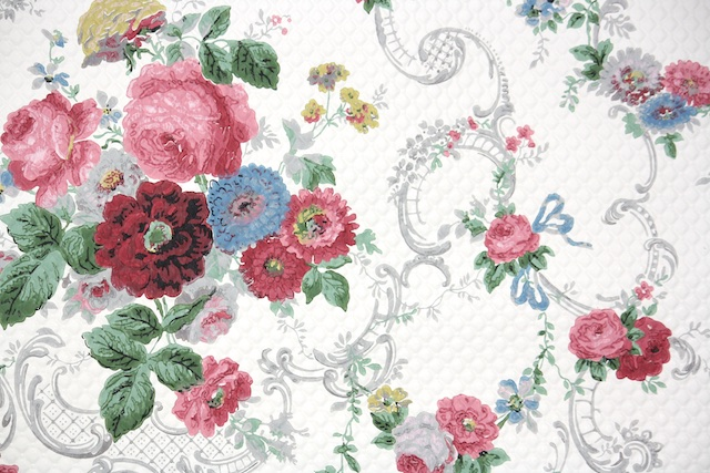 Hannahs Treasures Vintage Wallpaper: Roosevelt Rose
