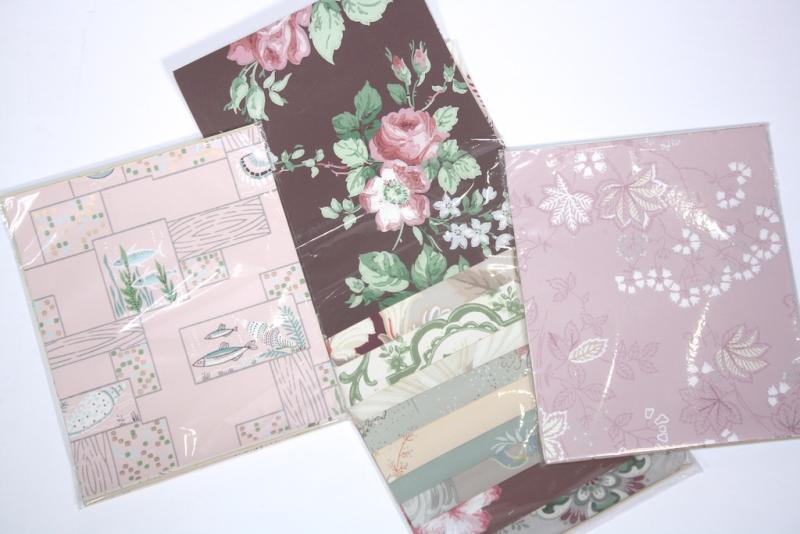 vintage wallpaper sample pack