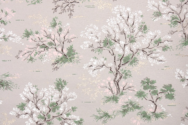 vintage trees wallpaper