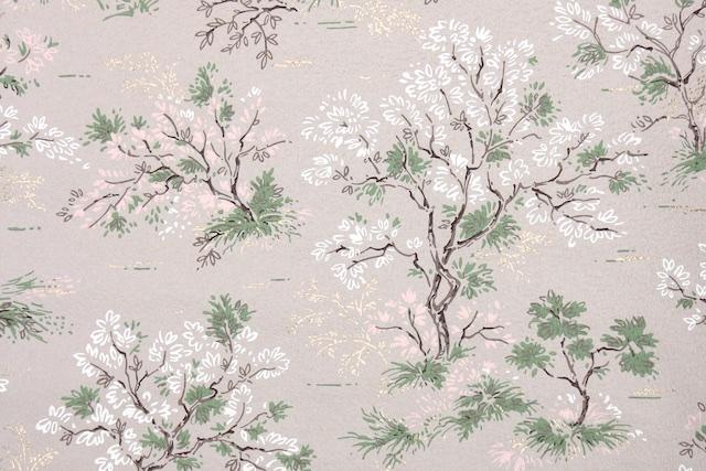 vintage trees wallpaper
