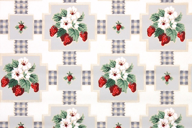 vintage strawberry wallpaper