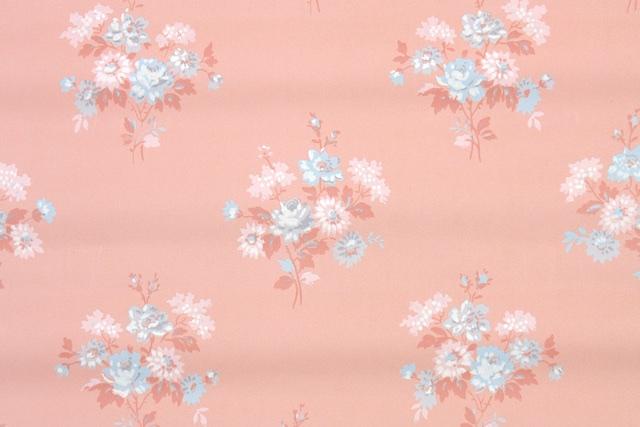 floral vintage wallpaper roses